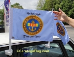 . Custom Blue Water Navy Car Flags